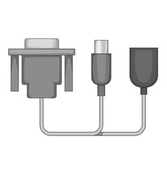 audio cable icon monochrome vector image