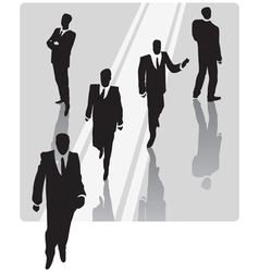 Businessman with security team vector image vector image