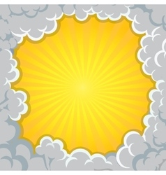 Cloud explosion yellow background Pop-Art Style vector image vector image