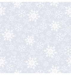 Festive seamless pattern with snowflakes vector image vector image