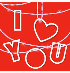 i love you creative card vector image