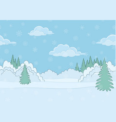 landscape winter forest seamless vector image