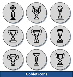 light goblet icons vector image