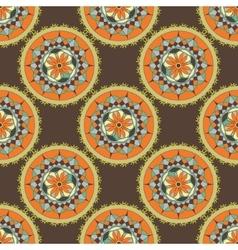 Mandala gear design vector image vector image
