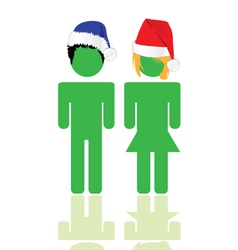 people with blue and red hat vector image vector image