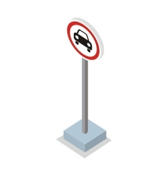 Prohibiting car road sign vector