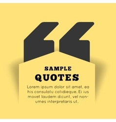 Quote blank template on yellow background vector image vector image