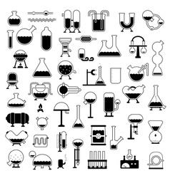 Set of cartoon mechanisms silhouettes vector