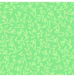 spring greens and flowers seamless pattern vector image vector image