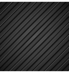 Abstract tech black diagonal stripes background vector image vector image