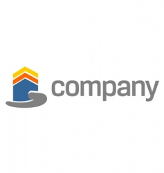 house security on hand logo vector image vector image