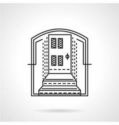 Line icon for mortgage vector image vector image