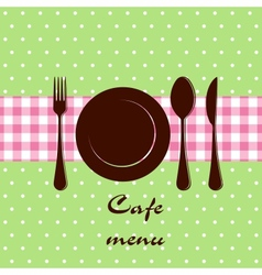 Template of a cafe menu vector image
