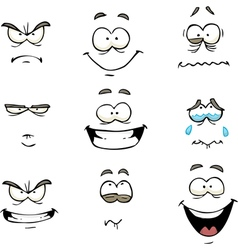 comics face vector image vector image