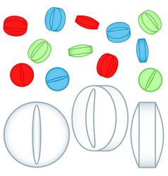 medicine tablet icons vector image vector image