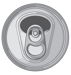 opened can top vector image vector image
