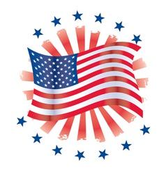 patriotic circle vector image