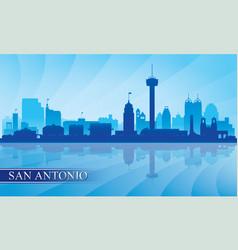san antonio city skyline silhouette background vector image vector image