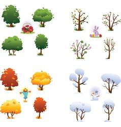 Set of four seasons vector image