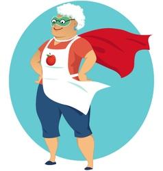 Super grandma vector