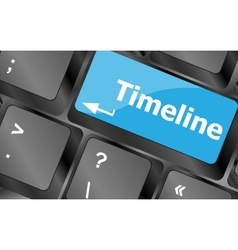 timeline concept - word on keyboard keys Keyboard vector image