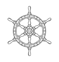 an old nautical wooden vector image vector image