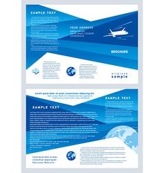 brochure airplane flight tickets air fly cloud sky vector image
