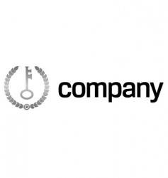 safety key logo vector image vector image