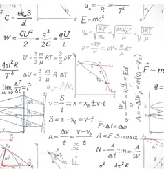 Seamless pattern of the formulas on the physics vector image vector image