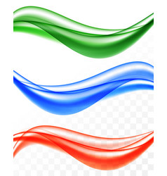 Abstract soft smooth wavy lines set vector