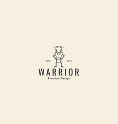 Animal cartoon ant warrior logo symbol icon design vector