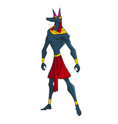 Anubis guardian of the world of the dead vector