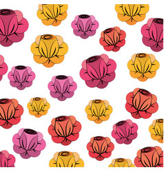 Beauty flower background decoration vector