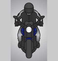 Biker or driver mascot with motorcycle vector