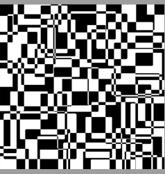 black and white abstract squares texture vector image