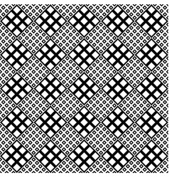 black and white seamless square pattern vector image