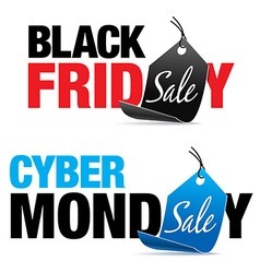Black Friday and Cyber Monday Sale vector