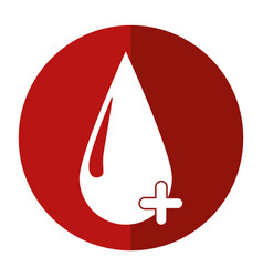 Blood drop donate donor cross shadow vector