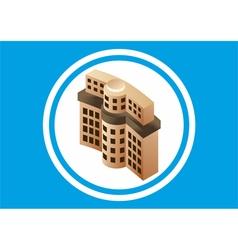 Building bank vector image