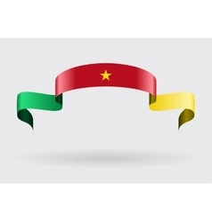 Cameroon flag background vector