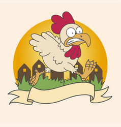 Chicken run icon vector