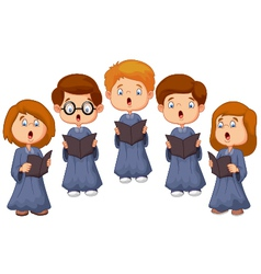 Children choir vector