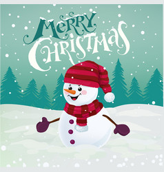 chrismas greetng card vector image