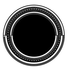 Circle pattern black amp white background vector