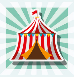 circus tent retro carnival fun fair festival vector image