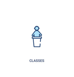 Classes concept 2 colored icon simple line vector