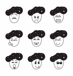 Collection various male expressions contains vector