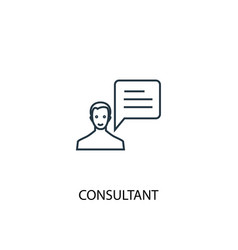 Consultant concept line icon simple element vector