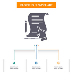 contract document paper sign agreement vector image