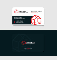creative business card with 3d red house vector image